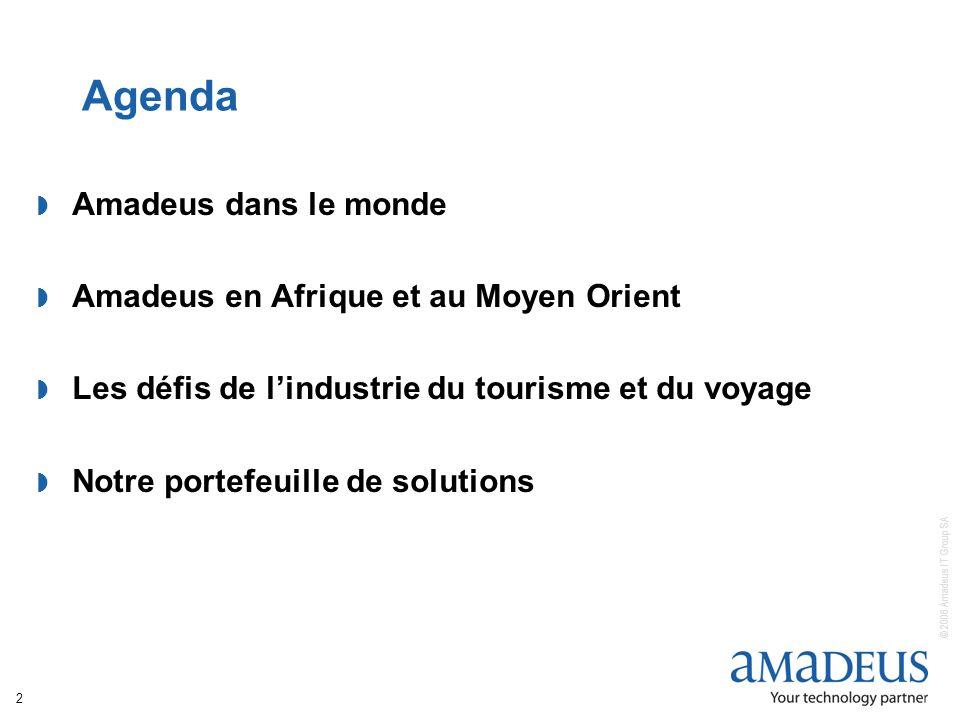 Agenda Amadeus dans le monde Amadeus en Afrique et au Moyen Orient