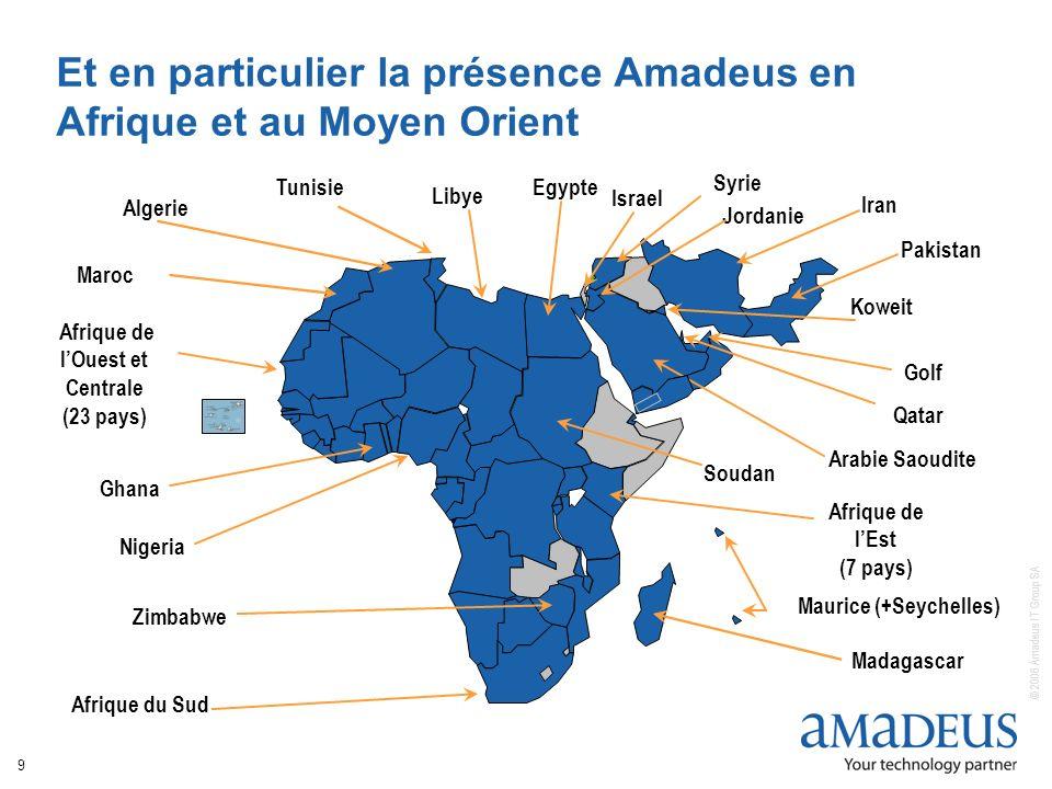 Et en particulier la présence Amadeus en Afrique et au Moyen Orient