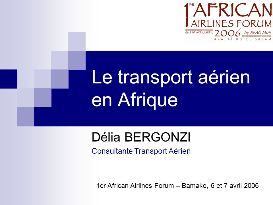 Le transport aérien en Afrique