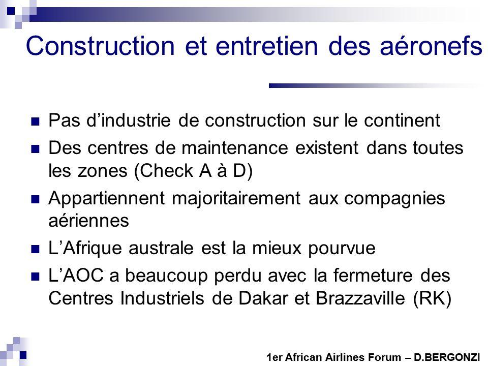Construction et entretien des aéronefs