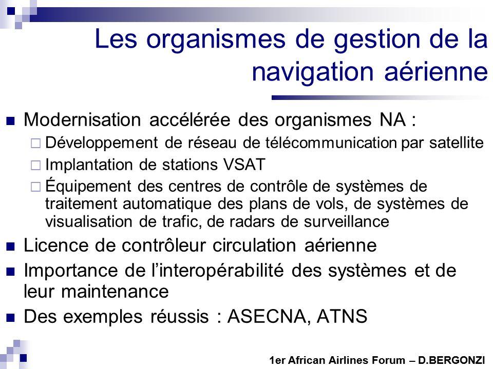 Les organismes de gestion de la navigation aérienne