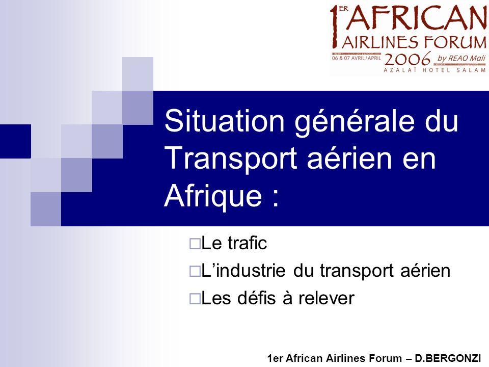 Situation générale du Transport aérien en Afrique :