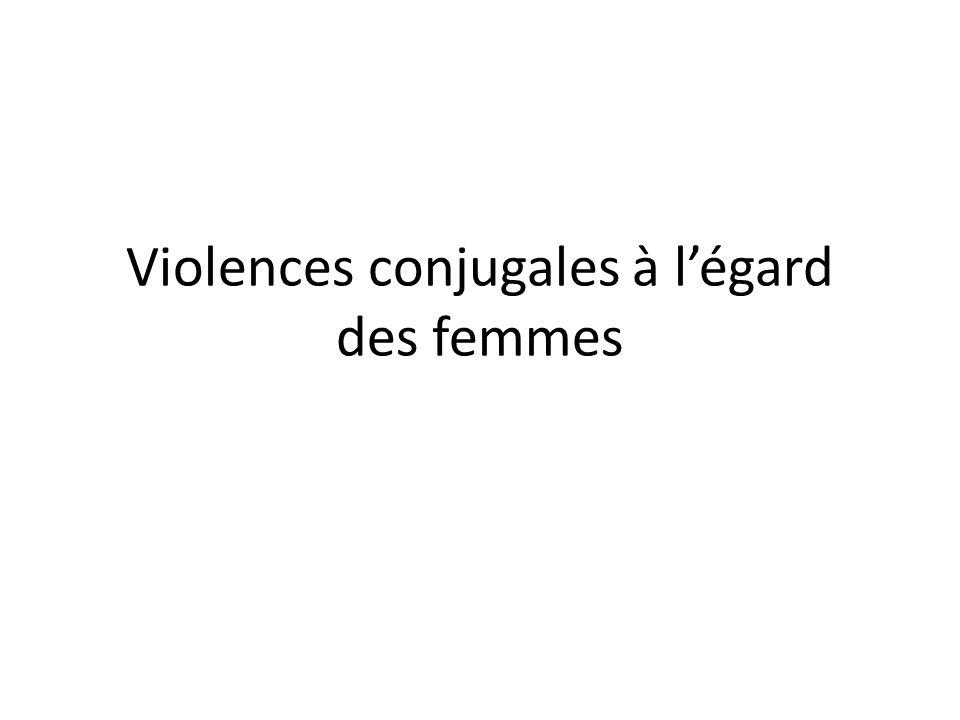 Violences conjugales à l'égard des femmes