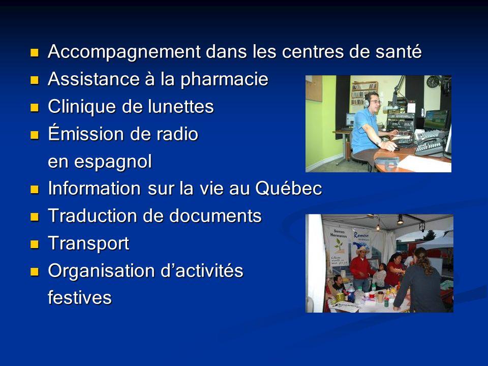 Accompagnement dans les centres de santé