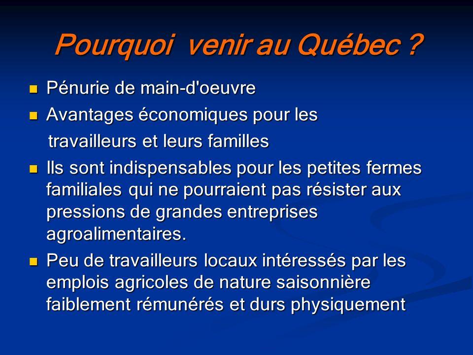 Pourquoi venir au Québec
