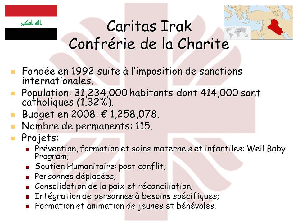 Caritas Irak Confrérie de la Charité