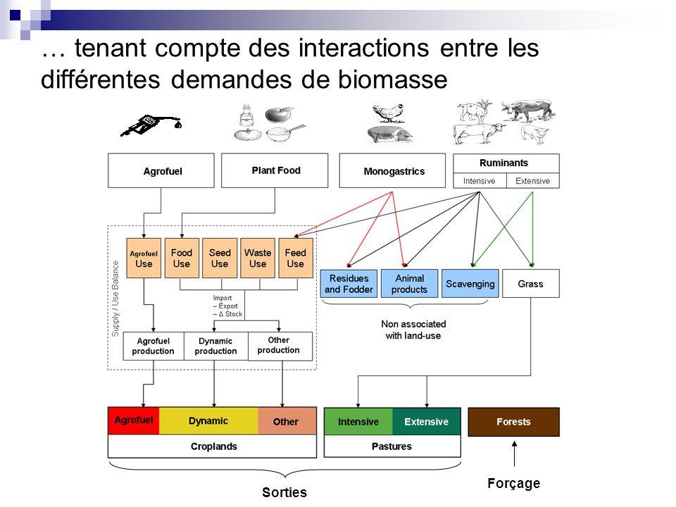 … tenant compte des interactions entre les différentes demandes de biomasse