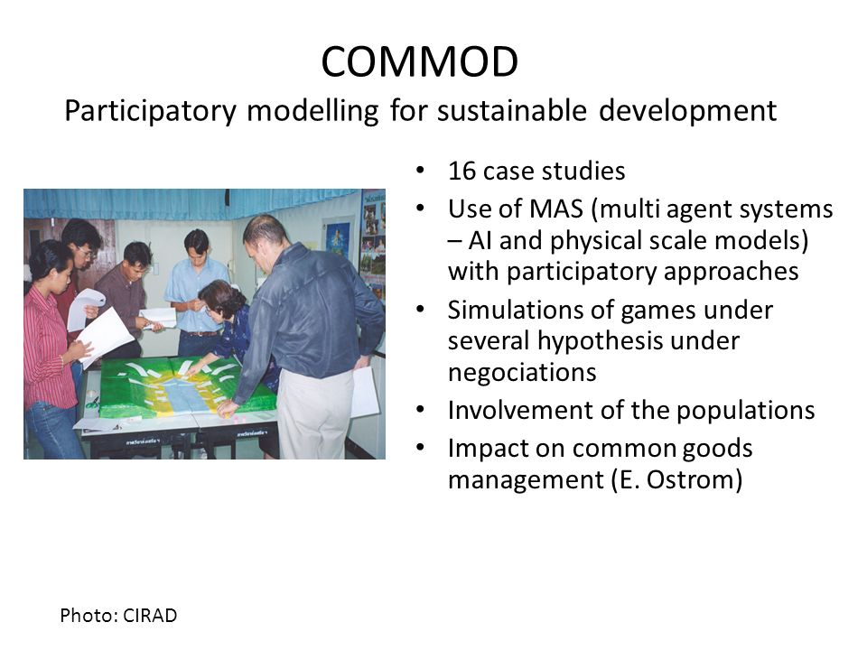 COMMOD Participatory modelling for sustainable development