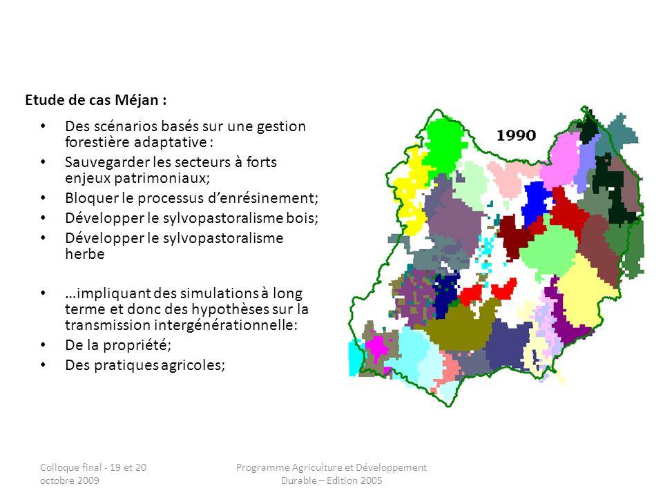 Programme Agriculture et Développement Durable – Edition 2005