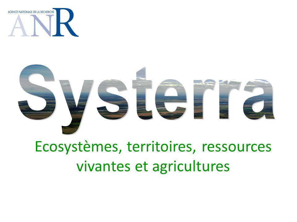 Ecosystèmes, territoires, ressources vivantes et agricultures