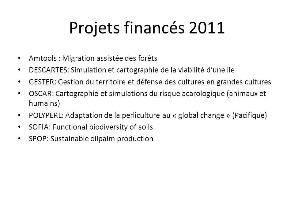 Projets financés 2011 Amtools : Migration assistée des forêts