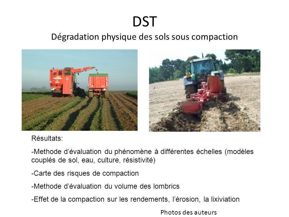 DST Dégradation physique des sols sous compaction
