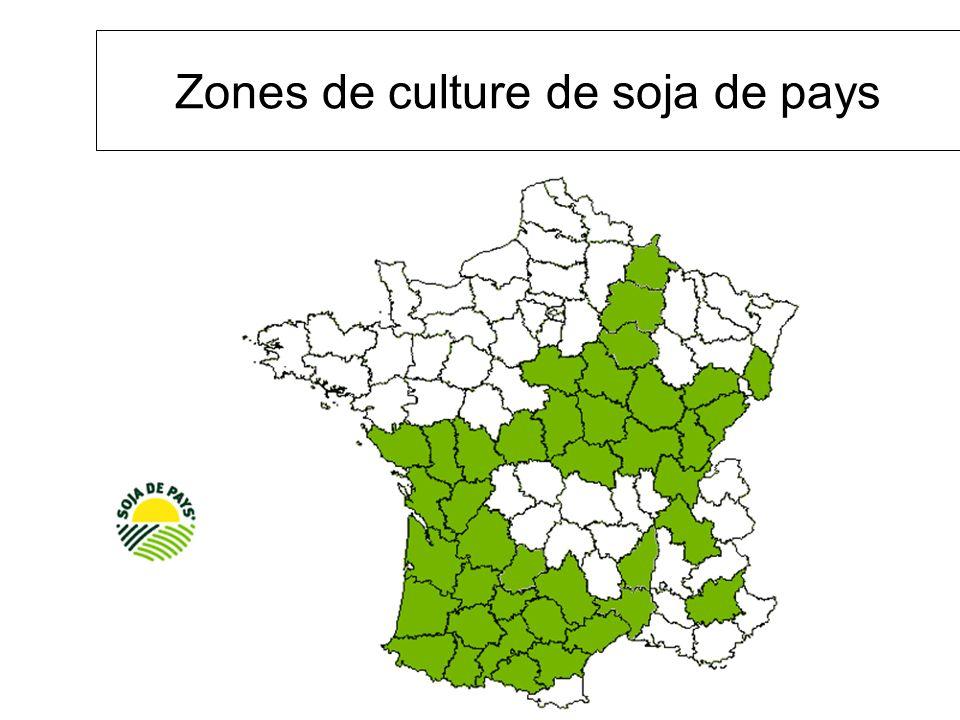 Zones de culture de soja de pays