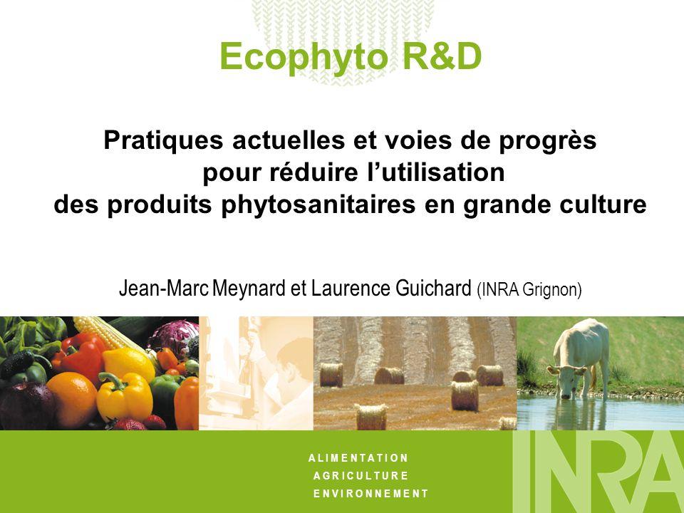 Ecophyto R&D Pratiques actuelles et voies de progrès