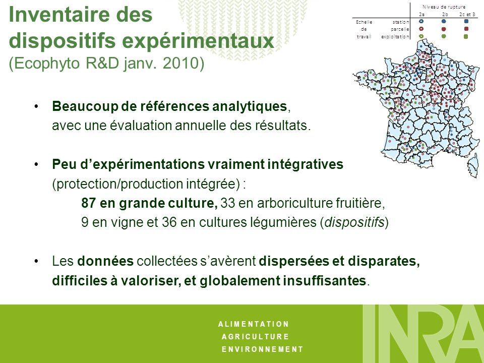 Inventaire des dispositifs expérimentaux (Ecophyto R&D janv. 2010)