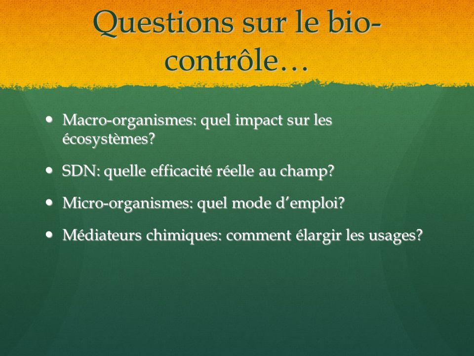 Questions sur le bio-contrôle…