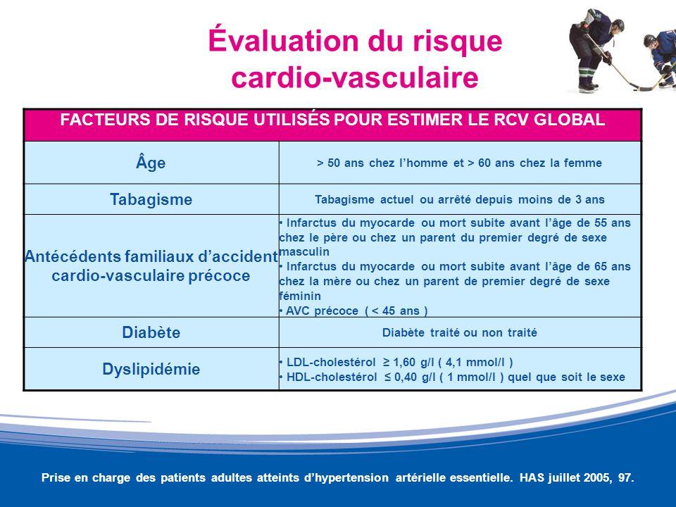 Évaluation du risque cardio-vasculaire