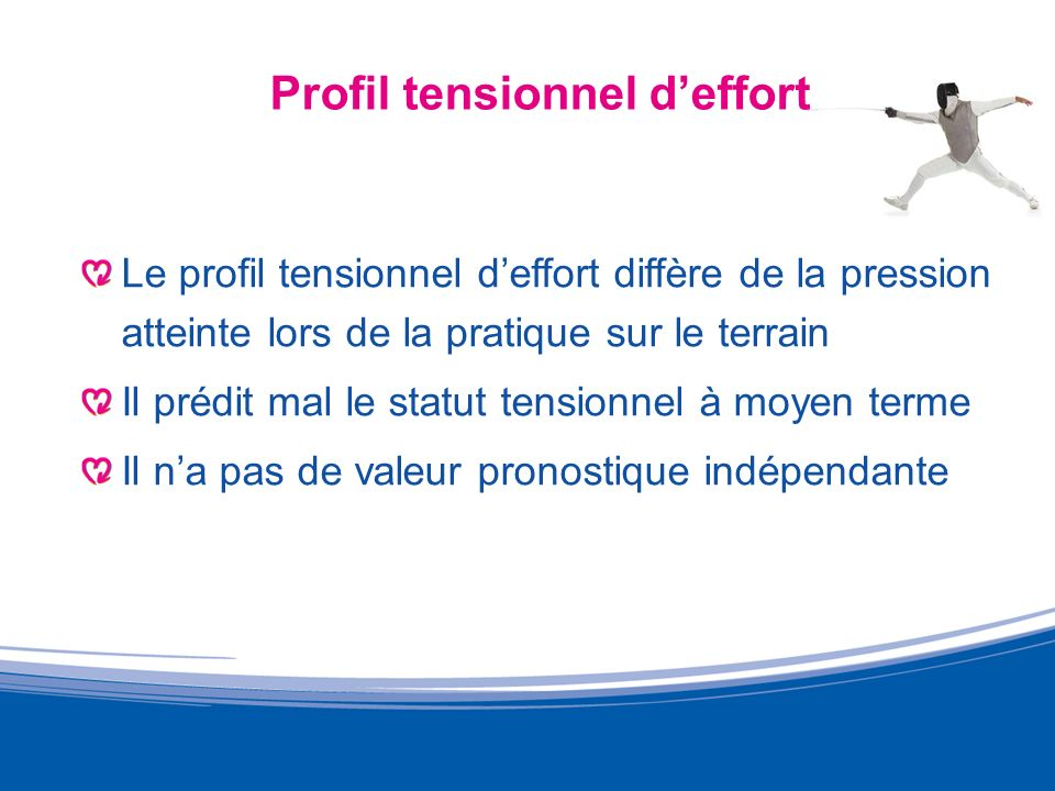 Profil tensionnel d'effort