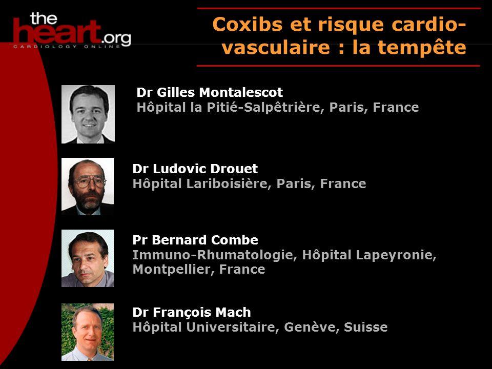 Coxibs et risque cardio-vasculaire : la tempête