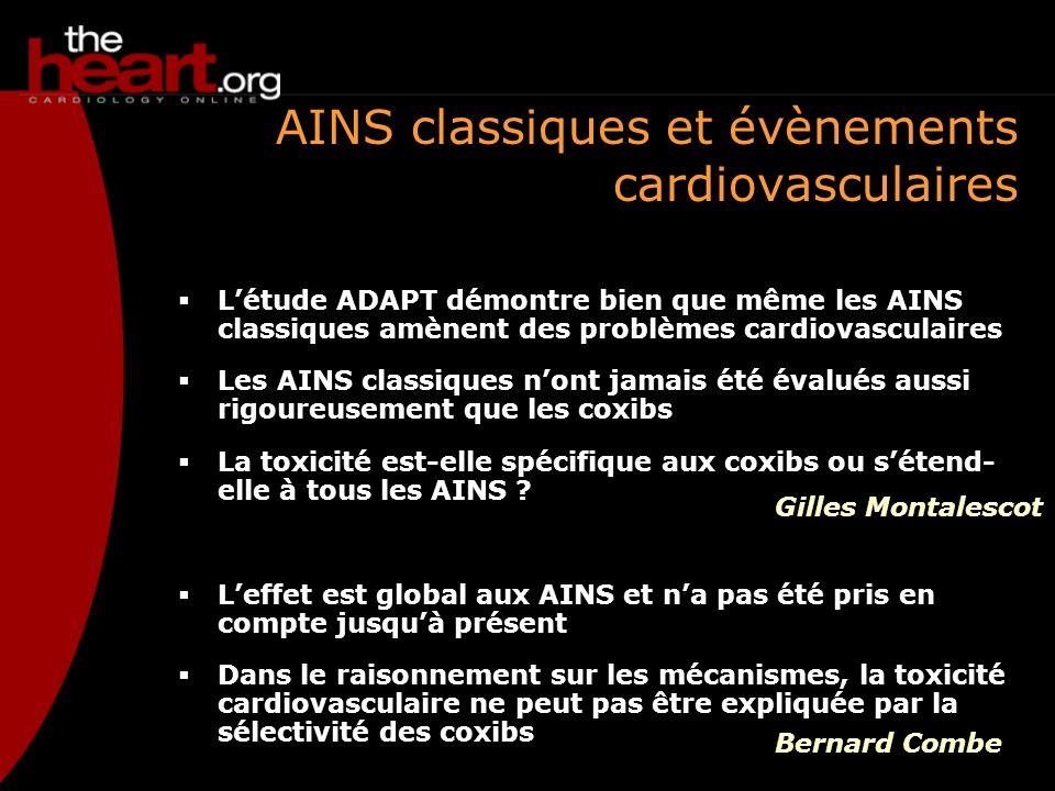 AINS classiques et évènements cardiovasculaires