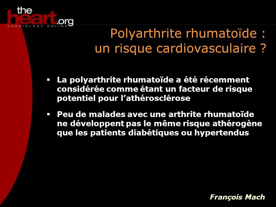Polyarthrite rhumatoïde : un risque cardiovasculaire