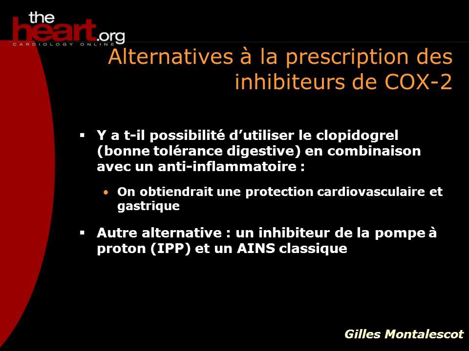 Alternatives à la prescription des inhibiteurs de COX-2