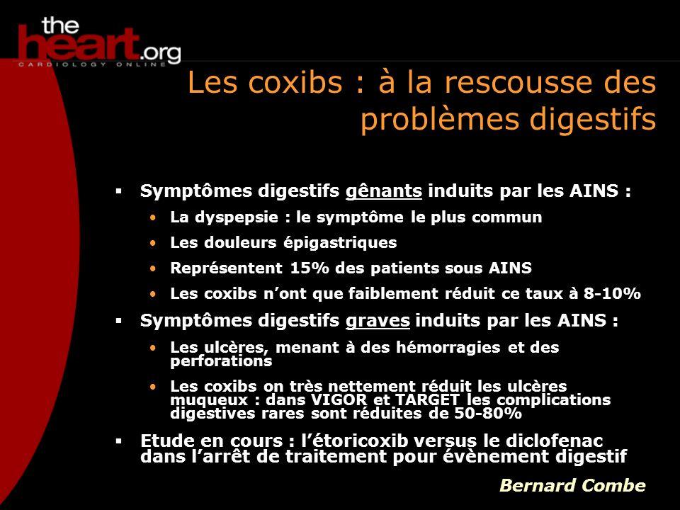 Les coxibs : à la rescousse des problèmes digestifs