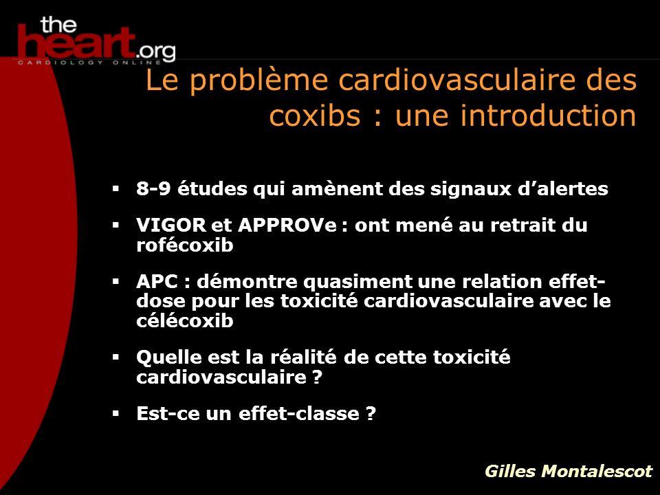 Le problème cardiovasculaire des coxibs : une introduction