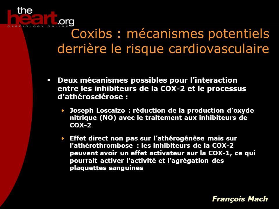 Coxibs : mécanismes potentiels derrière le risque cardiovasculaire