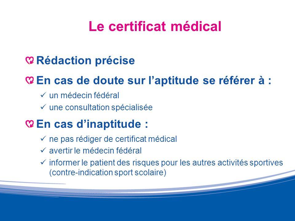 Le certificat médical Rédaction précise