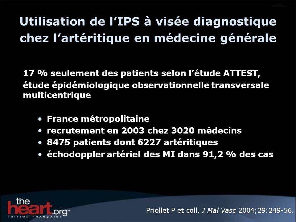 Utilisation de l'IPS à visée diagnostique chez l'artéritique en médecine générale