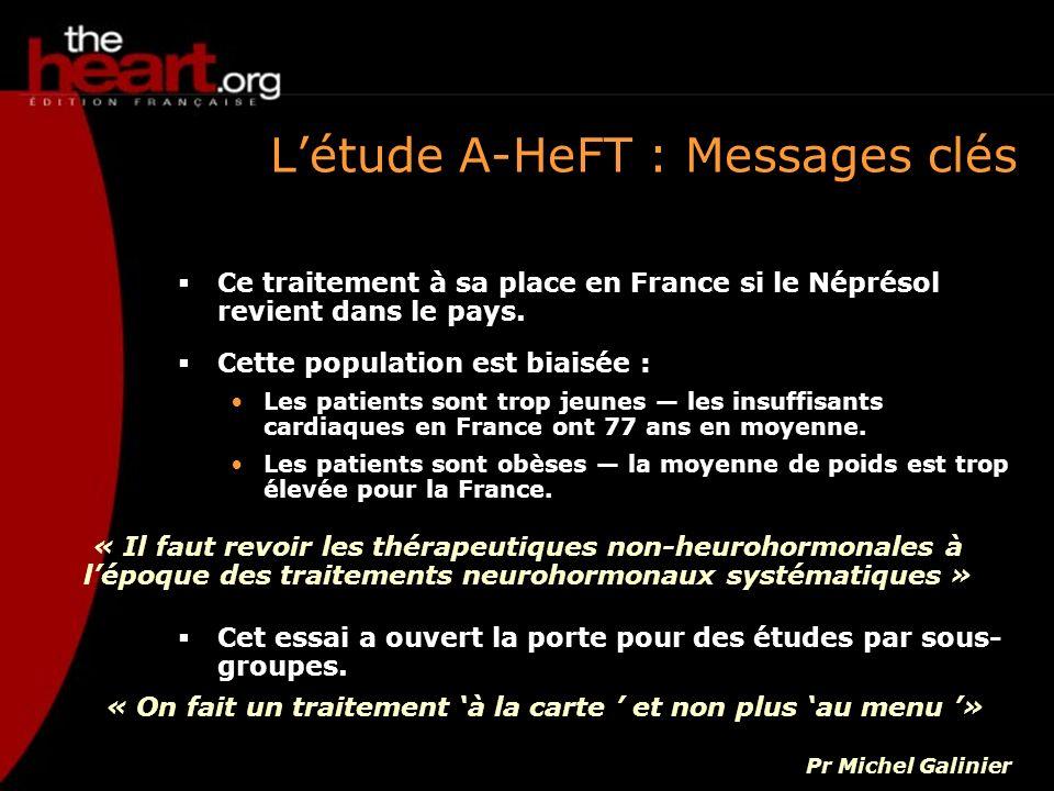 L'étude A-HeFT : Messages clés