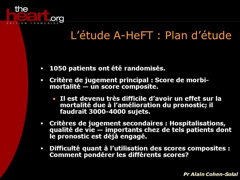 L'étude A-HeFT : Plan d'étude