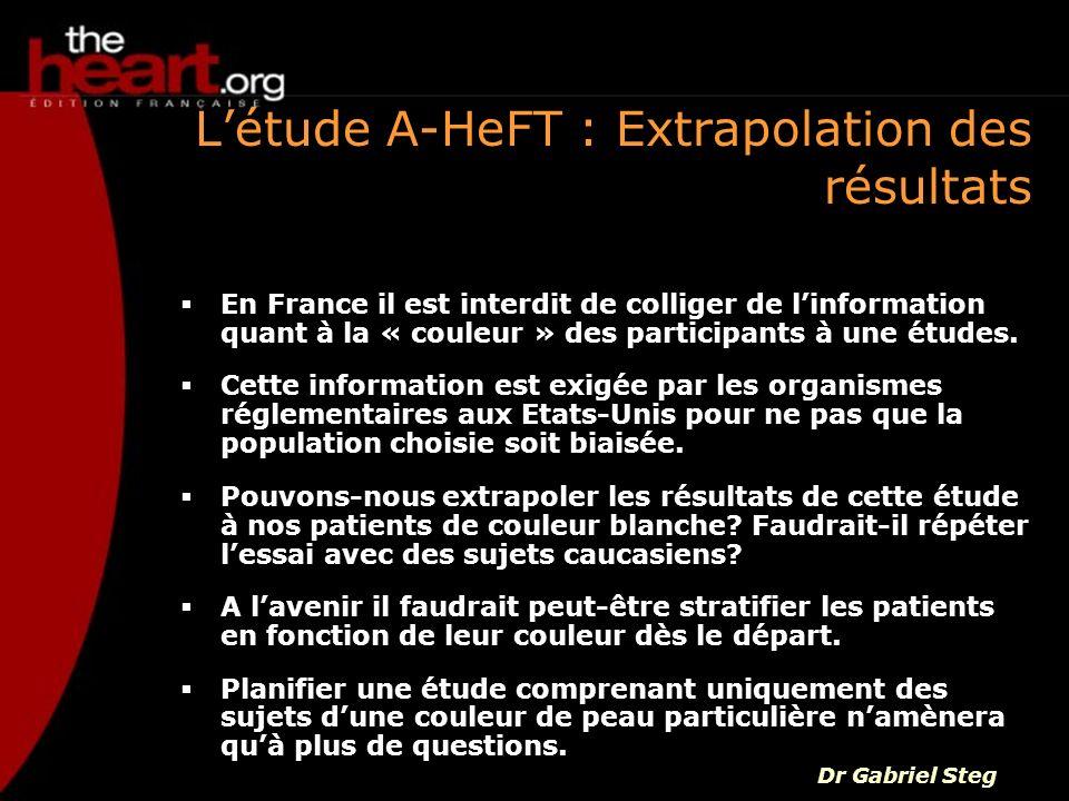 L'étude A-HeFT : Extrapolation des résultats