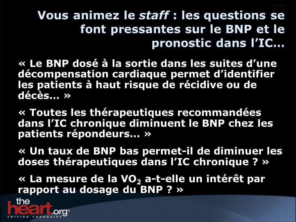 Vous animez le staff : les questions se font pressantes sur le BNP et le pronostic dans l'IC…
