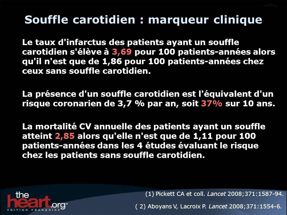 Souffle carotidien : marqueur clinique