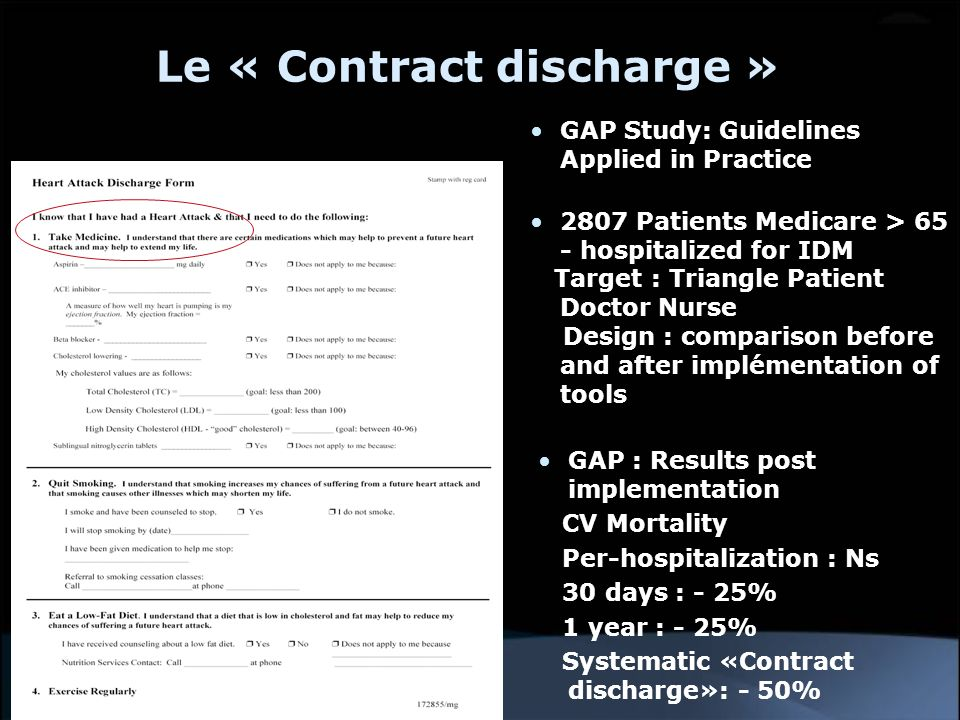 Le « Contract discharge »