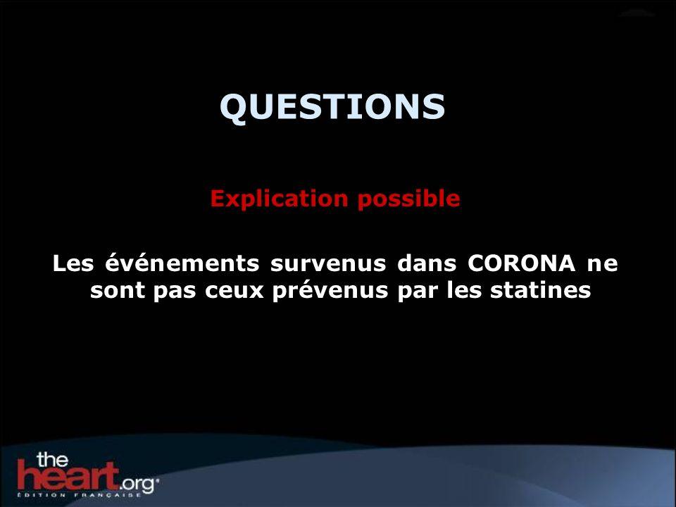 QUESTIONS Explication possible