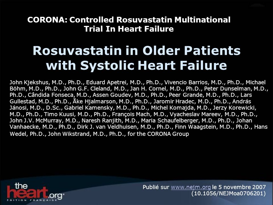 Rosuvastatin in Older Patients with Systolic Heart Failure