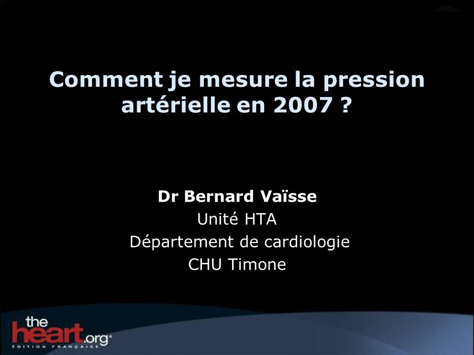 Comment je mesure la pression artérielle en 2007