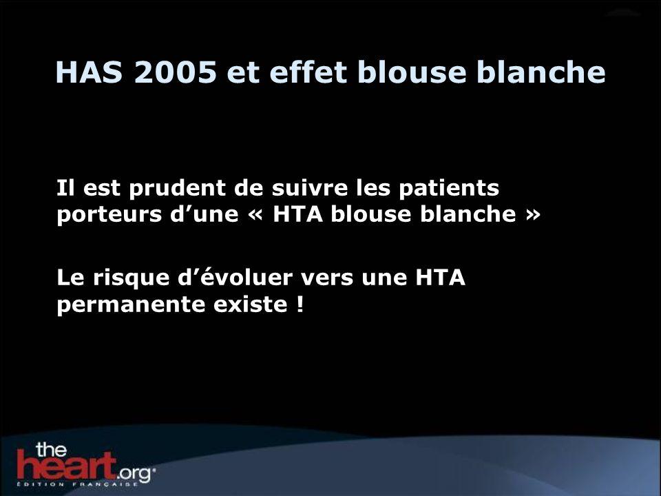 HAS 2005 et effet blouse blanche