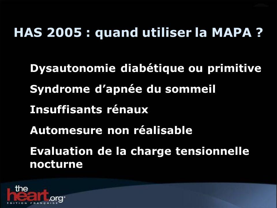 HAS 2005 : quand utiliser la MAPA