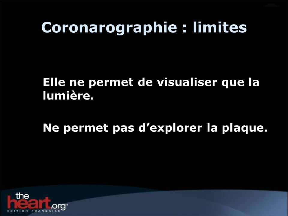 Coronarographie : limites