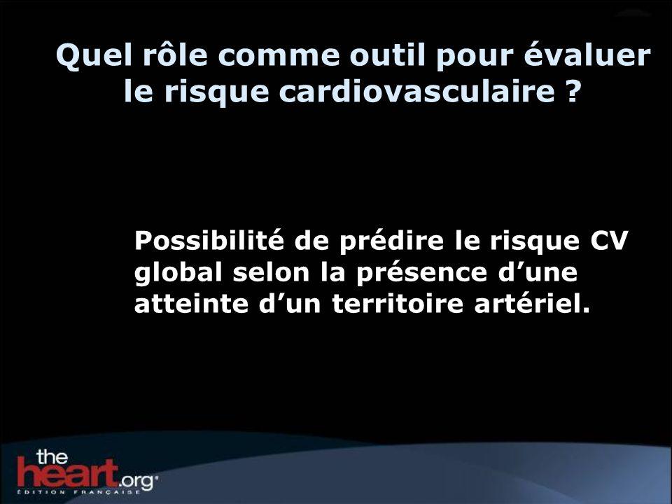 Quel rôle comme outil pour évaluer le risque cardiovasculaire