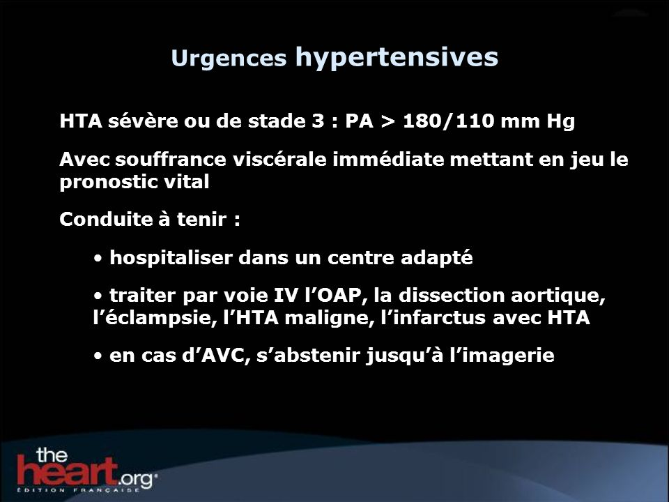 Urgences hypertensives