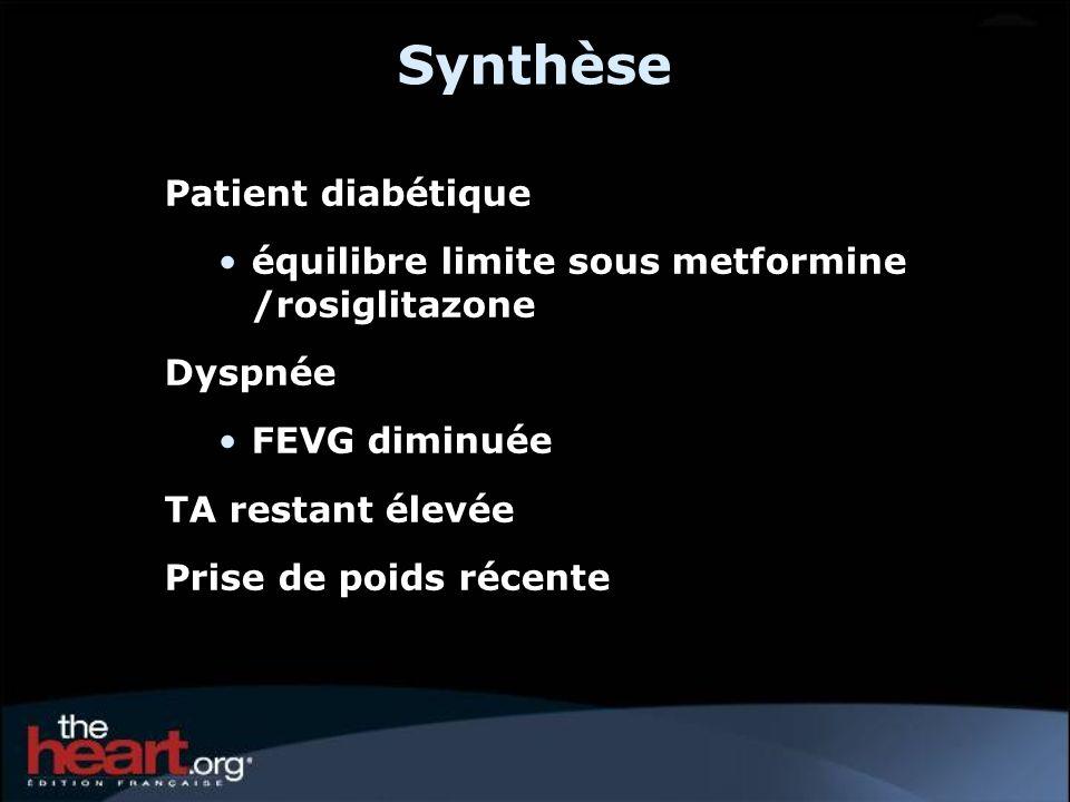 Synthèse Patient diabétique