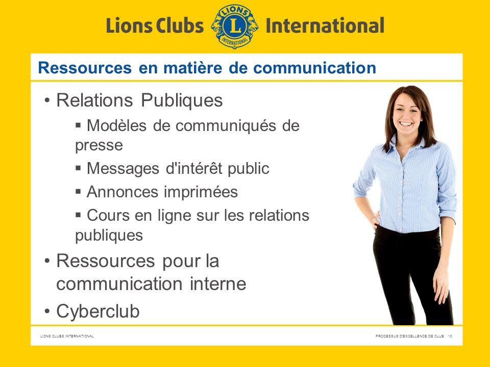 Ressources en matière de communication