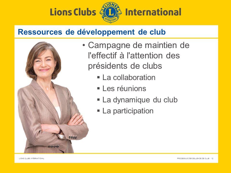 Ressources de développement de club