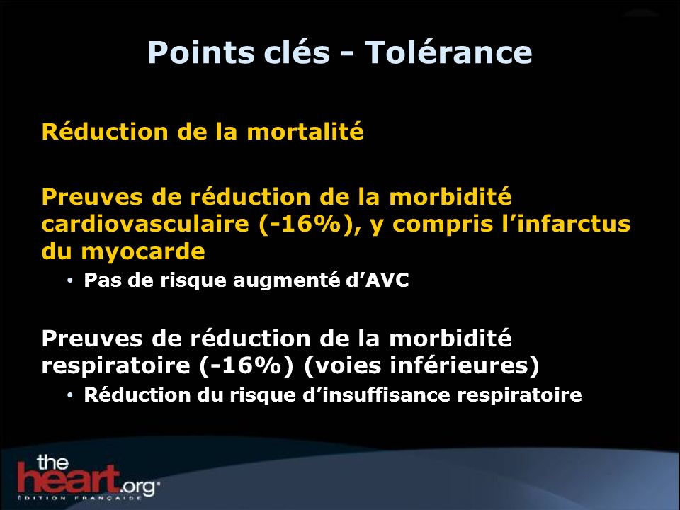 Points clés - Tolérance