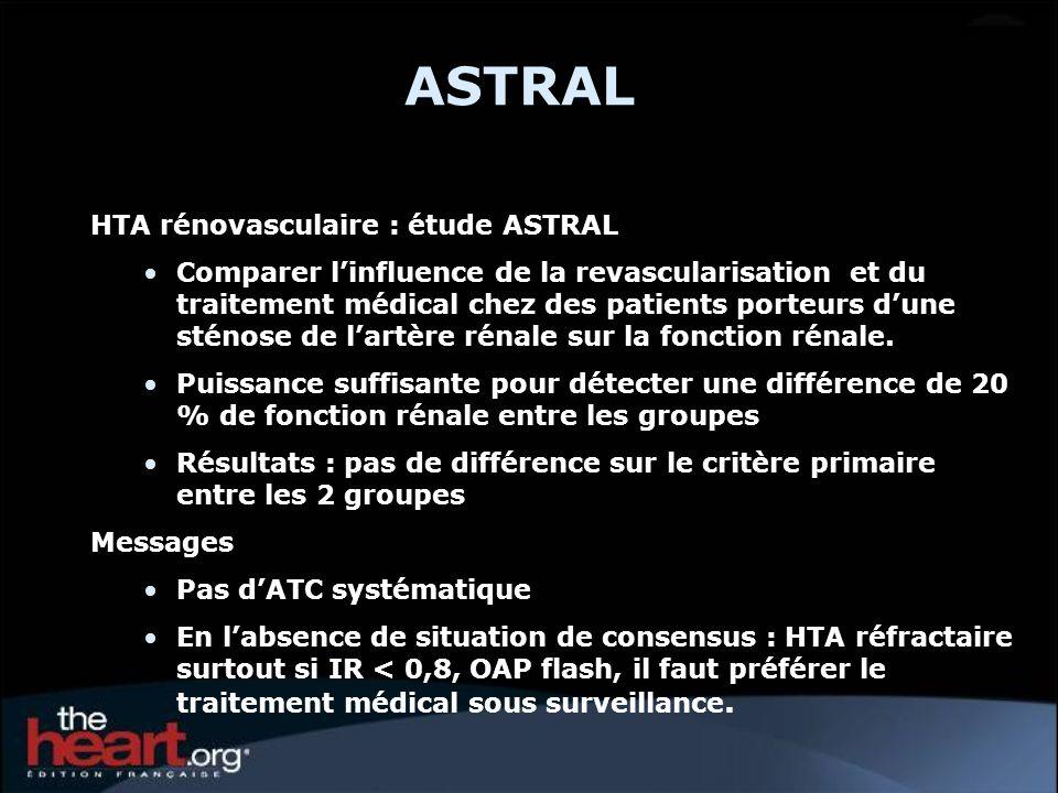 ASTRAL HTA rénovasculaire : étude ASTRAL